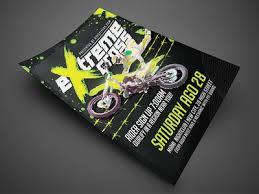 motocross event flyer template black by jay key dribbble