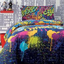 graffiti quilt cover set doona duvet cover boys teen bedding