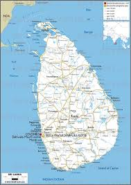 Sri Lanka On World Map by Geoatlas Countries Sri Lanka Map City Illustrator Fully