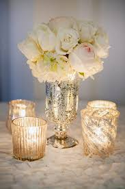 Silver Vases Wedding Centerpieces Fan Jiang Use More Candles Less Blooms And Place Them Both In