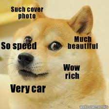 Doge Car Meme - doge such cover photo much beautiful so speed wow rich very car