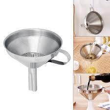 entonnoir cuisine pratique en acier inoxydable ménage vin entonnoir huile sauce