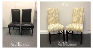 Zebra Dining Room Chairs by Switch Studio Before U0026 Afters Reupholstered Parsons Chairs