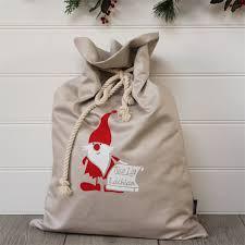 large personalised santa sack list honeysuckle and lime