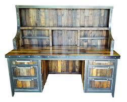 reclaimed wood industrial desk industrial evolution furniture co