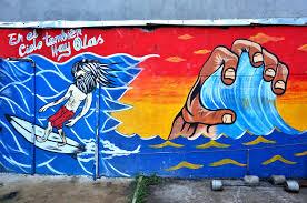 Surf Mural by Jaco U0026 Hermosa U2014 Hills U0026 Waves