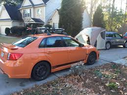 Subaru Wrx Roof Rack by Subaru Family Got Some Presents New Roof Rack And New Tailgate