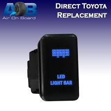 Led Blue Light Bar by A 12v 3a Laser Etched On Off Toyota Oem Replacement Push Switch