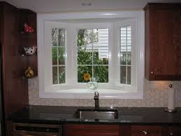 kitchen sink window ideas white bay window kitchen sink idea with black countertop