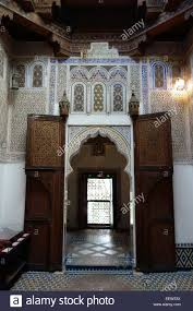 traditional moroccan interior of the dar jamai a palace built in