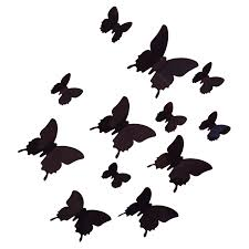 compare prices on paper butterfly decoration online shopping buy 12pcs 3d butterfly wall stickers butterflies docors art diy decorations paper black china