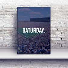 Personalized Home Decor Gifts Ann Arbor Saturday Football Premium Canvas Wraps Wolverines