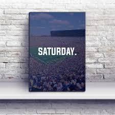 Home Design Store Michigan Ann Arbor Saturday Football Premium Canvas Wraps Wolverines
