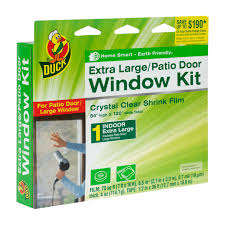 Patio Door Ratings Duck Brand Shrink Film Window Kit For Extra Large Windows Or Patio