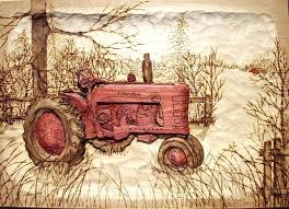 wood carvings wood carving of farmall tractor carved vehicles