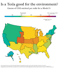 Tesla Charging Stations Map Is A Tesla Good For The Environment Oc Dataisbeautiful