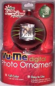 new vu me digital photo ornament display 70