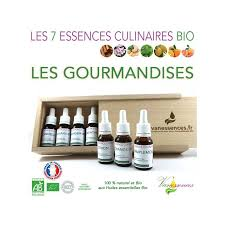 cuisine aux huiles essentielles coffret 7 essences culinaires bio gourmandises huiles essentielles