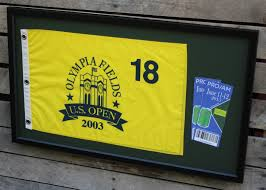 Golf Tournament Flags Golf Flag And Ticket Frame U2013 Golfflagframes