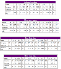 40 meters to feet shoe sizes international conversion tables and charts