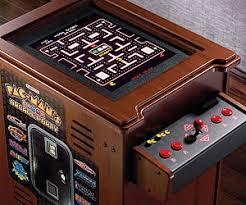 pac man arcade cocktail cabinet