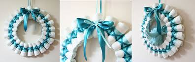 baby shower wreath wreath rolled diapers for chic style