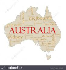 World Cloud Map by Illustration Of Australia Word Cloud Map