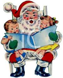 child sitting clipart children sitting on santa u0027s lap clipart image