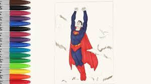 superman flying in the cloud coloring pages sailany coloring kids