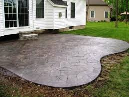 Concrete Backyard Ideas Concrete Backyard Design Backyard Concrete Patio Ideas Garden Home