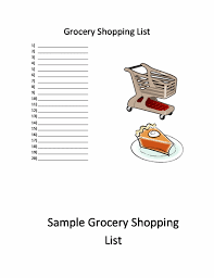 shopping list template word templates ready made office templates