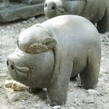 statues de jardin en pierre statue en pierre de lave pour le jardin