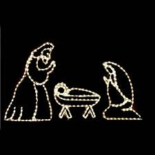 lighted nativity