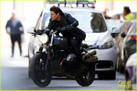 Tom Cruise Mansion tom cruise films scenes on a motorcycle for u0027mission impossible 6
