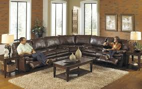 Living Room With Sectional Sofas by Fancy Leather Sectional Sofas With Recliners 69 With Additional