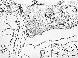 astounding van gogh starry night coloring page with starry night
