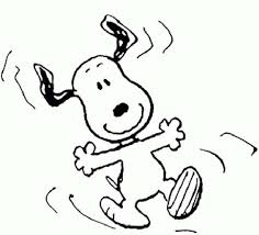 snoopy feeling happy coloring pages place color