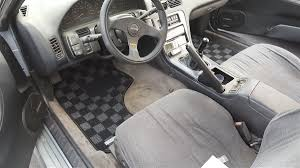 dark gray nissan p2m nissan s13 1989 94 240sx race floor mats dark grey