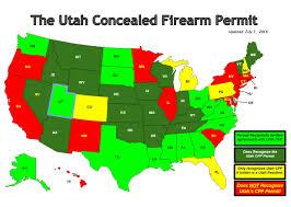 Utah State Map Utah Concealed Carry Map New York Map