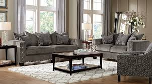 Rooms To Go Living Room Set Cindy Crawford Home Sidney Road Gray 5 Pc Living Room Living
