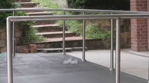 Stainless Steel Handrails For Stairs How To Install Diy Stainless Steel Posts And Handrails Youtube