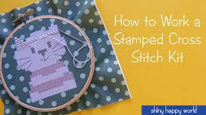 how to work a sted cross stitch kit