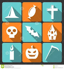 free halloween icon halloween flat vector icons with long shadow set royalty free