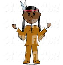 american clipart indian tribe pencil and in color