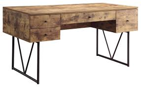 rustic pine writing desk amazing industrial writing desk with 4 drawers antique nutmeg finish