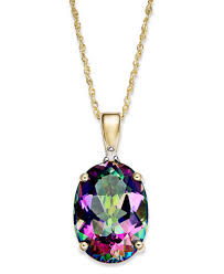 necklace with topaz images Mystic topaz 7 1 3 ct t w and diamond accent oval pendant tif