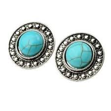 turquoise earrings studs ginasy silver plated turquoise stud earrings