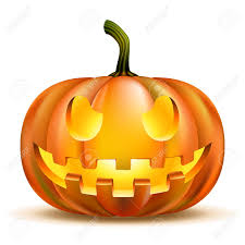 halloween pumpkin isolated on white scary jack royalty free