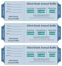 15 free raffle ticket templates in microsoft word mail merge