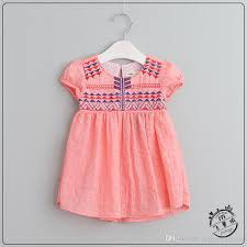 embroidered floral dresses baby cotton linen